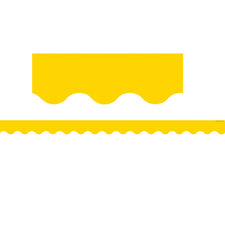 Yellow Gold Scalloped Bulletin Board Border Trim