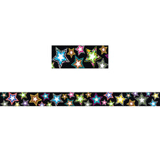 Fancy Stars Straight Border Trim