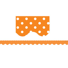 Orange Mini Polka Dots Scalloped Bulletin Board Border Trim