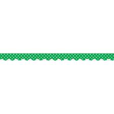 Green Mini Polka Dots Scalloped Bulletin Board Border Trim