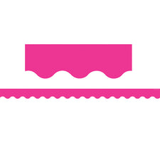 Hot Pink Scalloped Bulletin Board Border Trim