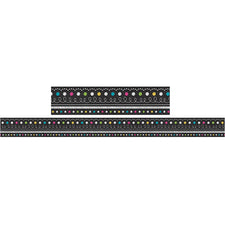 Chalkboard Brights Straight Bulletin Board Border