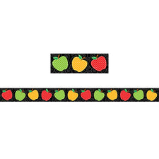 Dotty Apples Straight Bulletin Board Border