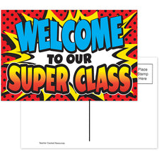 Superhero Welcome Postcards