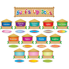 Surf's Up Jobs Mini Bulletin Board Set