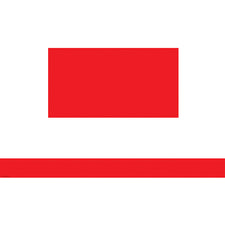 Red Solid Straight Bulletin Board Border