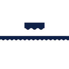 Navy Scalloped Bulletin Board Border