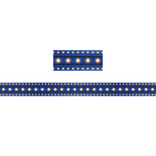 Dark Blue Marquee Straight Bulletin Board Border