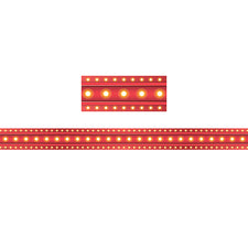 Red Marquee Straight Bulletin Board Border