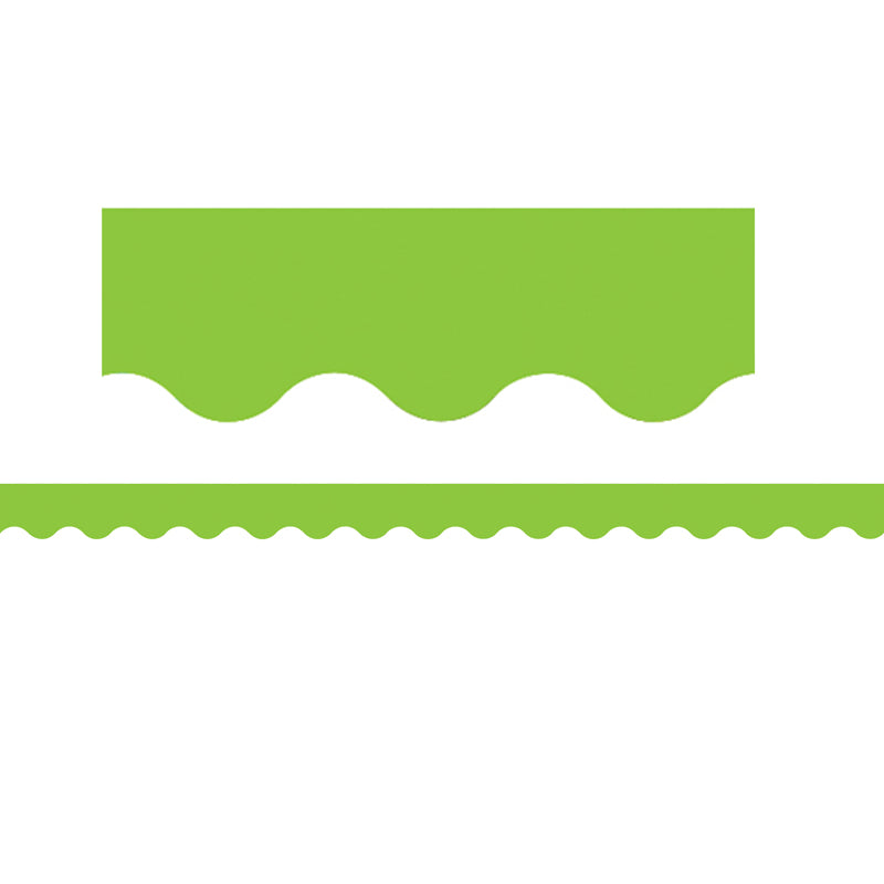 Lime Scalloped Bulletin Board Border Trim