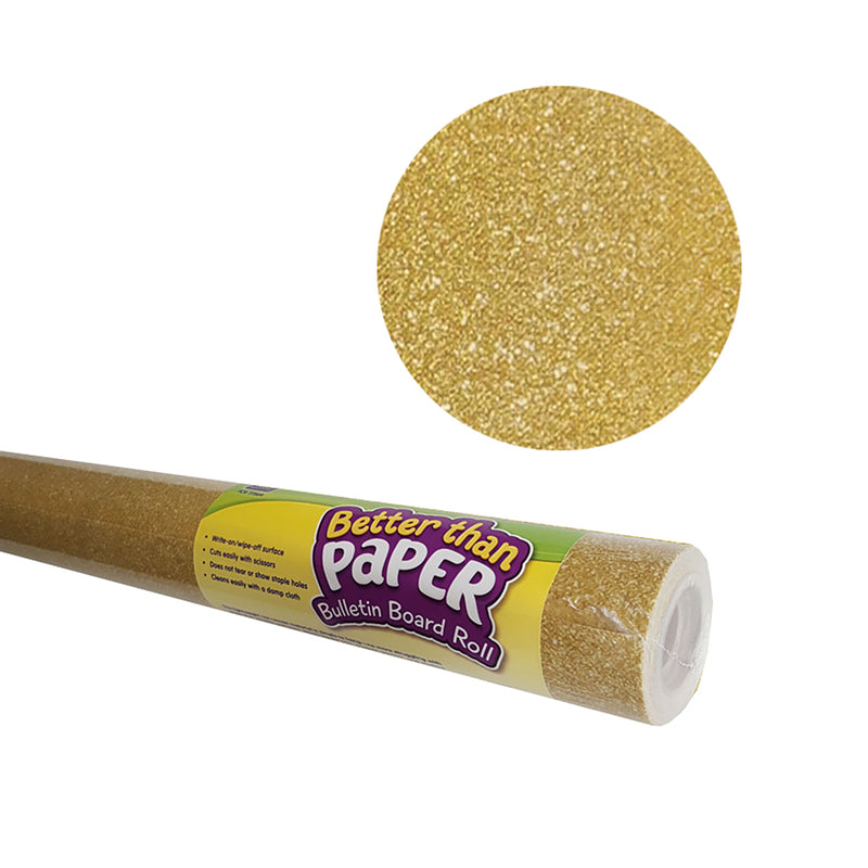 Gold Shimmer Better than Paper Bulletin Board Fabric, Four 4' x 12' Rolls