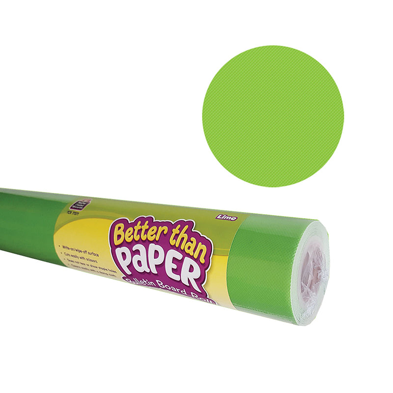 Lime Better than Paper Bulletin Board Fabric, Four 4' x 12' Rolls