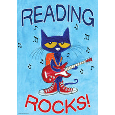Pete the Cat® Reading Rocks Positive Poster