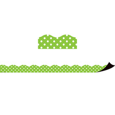 Lime Polka Dots Magnetic Borders