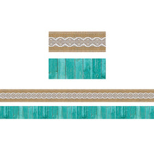 Shabby Chic Double-Sided Bulletin Board Border