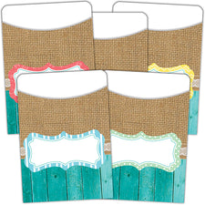 Shabby Chic Library Pockets, Multi-Pack