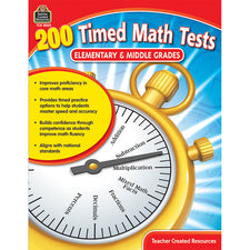 200 Timed Math Tests: Elementary to Middle Grades