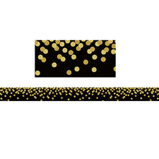 Black Confetti Straight Bulletin Board Border