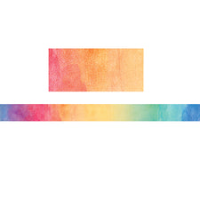 Watercolor Straight Bulletin Board Border