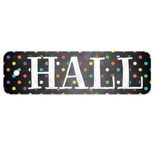 Plastic Hall Pass, Chalkboard Dots Hall