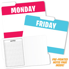Day of the Week Designer File Folders