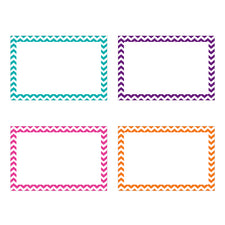 Border Index Cards, 3 x 5 Blank, Chevron