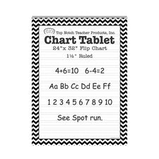 Black Chevron Border Chart Tablet
