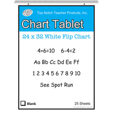 "White Chart Tablet, 24"" x 32"", 1-1/2"" Ruled"
