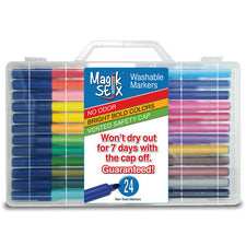 Magic Stix Washable Markers, 24 Pack