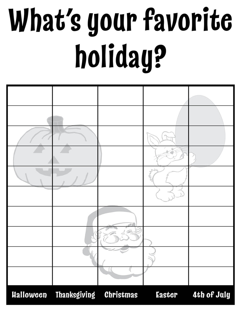 What's Your Favorite Holiday? All About Me Classroom Tally Chart