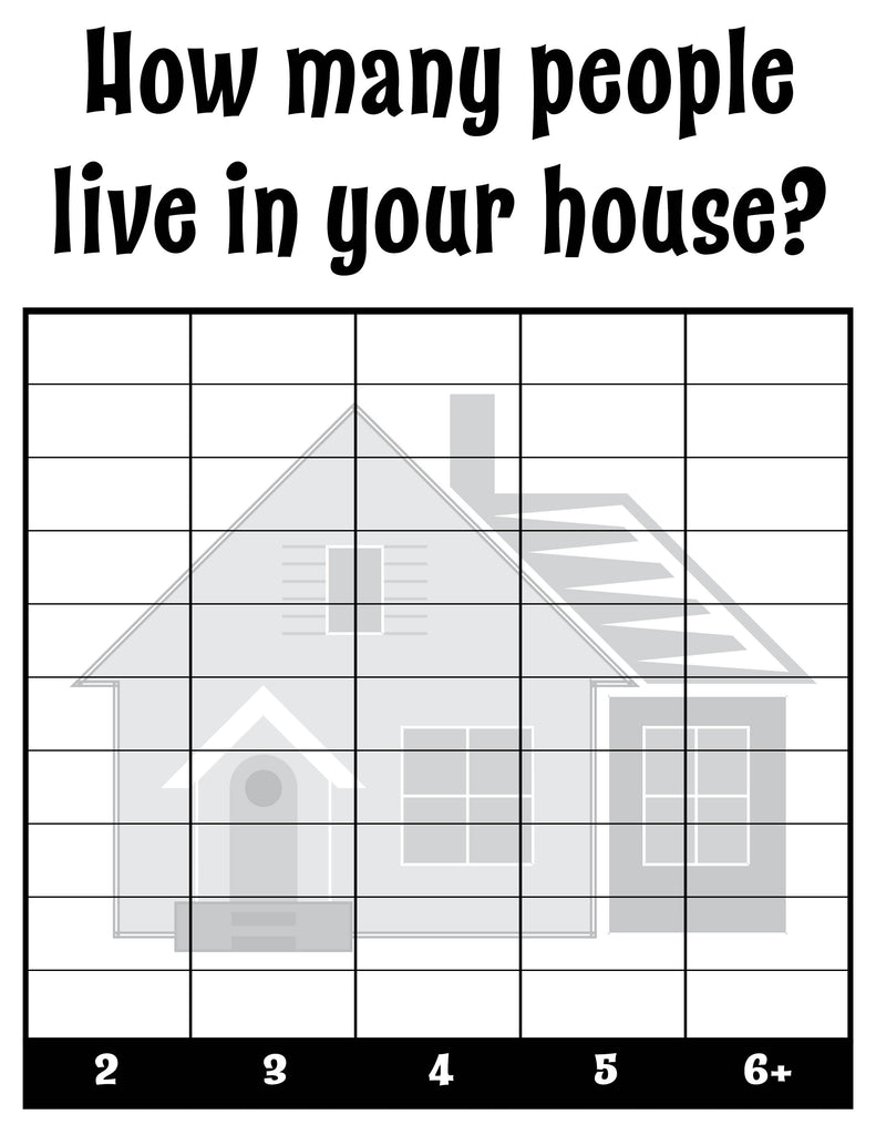 How Many People Live In Your House? All About Me Classroom Tally Chart