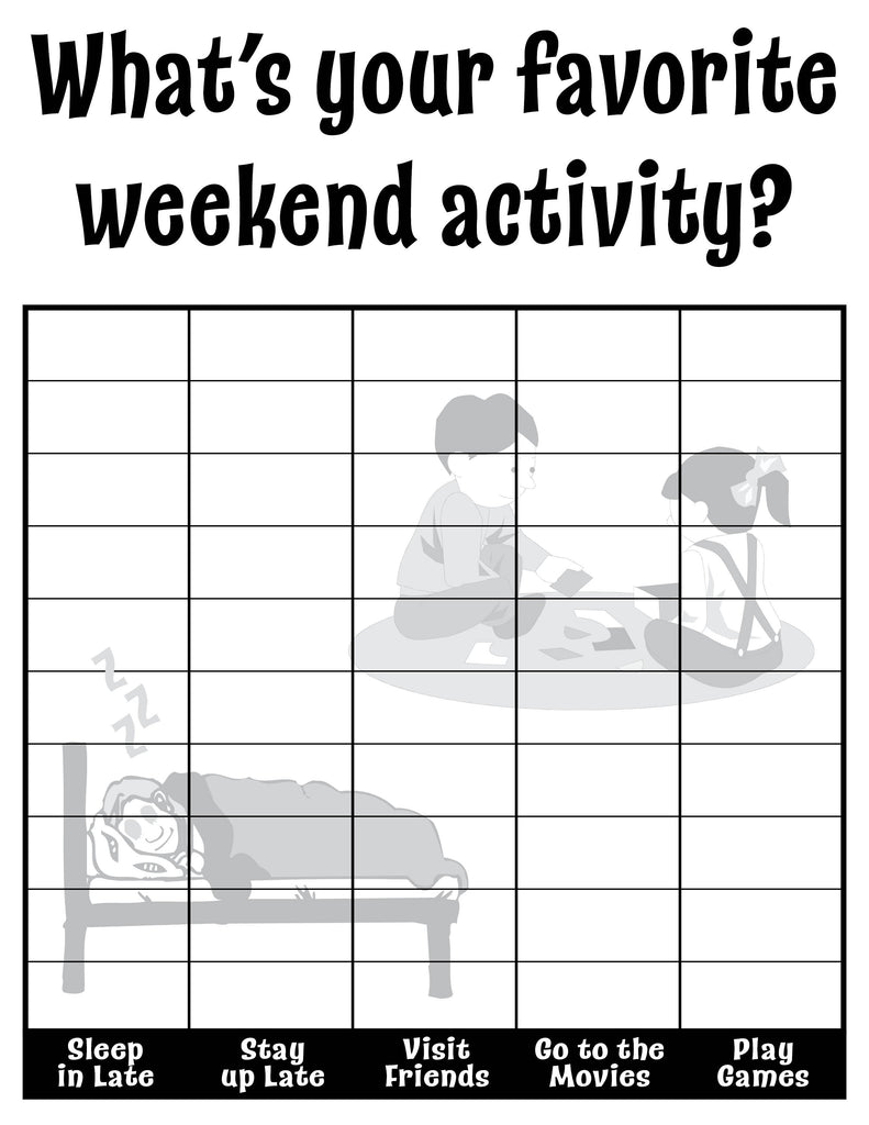 What's Your Favorite Weekend Activity? All About Me Classroom Tally Chart
