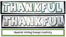 """THANKFUL"" Writing Craftivity for Thanksgiving!"