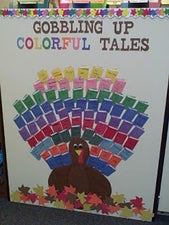 Gobbling Up Colorful Tales! - Thanksgiving Themed Reading Bulletin Board