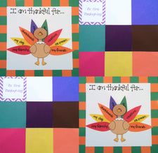 Thanksgiving Quilt Craft & Bulletin Board Idea