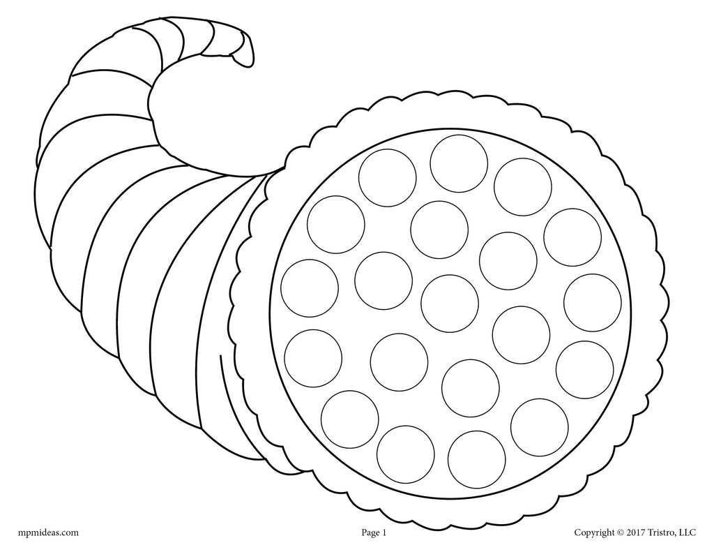 FREE Thanksgiving Do-A-Dot Printables and Dot Art Painting Coloring Pages!