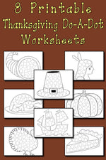 Thanksgiving Do-A-Dot Printables and Dot Art Painting Coloring Pages!