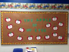 """The Apples of My Eye"" Fall Bulletin Board Idea"