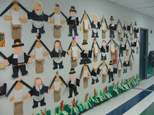 The First Thanksgiving - Thanksgiving Writing Bulletin Board