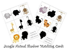 Jungle Animal Silhouette Matching
