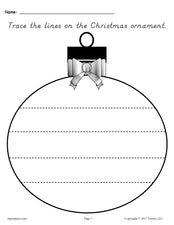 FREE Printable Christmas Ornament Line Tracing Worksheets!
