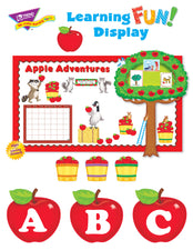 """Apple Adventures"" Fall Themed Bulletin Board Idea"