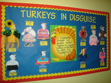 Turkeys In Disguise Thanksgiving Bulletin Board Idea