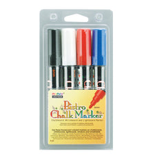 Bistro Chalk Markers, Set of 4 (Black, Red, Blue, White)