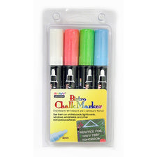 Bistro Chalk Markers, Set of 4 (White, Red, Blue, Green)