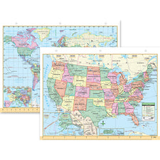 "U.S. & World Notebook Map 8 1/2"" x 11"""