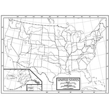 U.S. Outline Pad Map, 50 Sheets