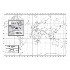 World Outline Study Map, 50 Sheets