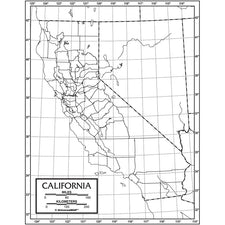 California Outline Map, 50 Pack