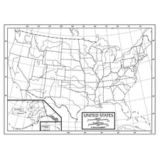 "US Outline Map 50-Pack (Paper) 8.5"" x 11"""